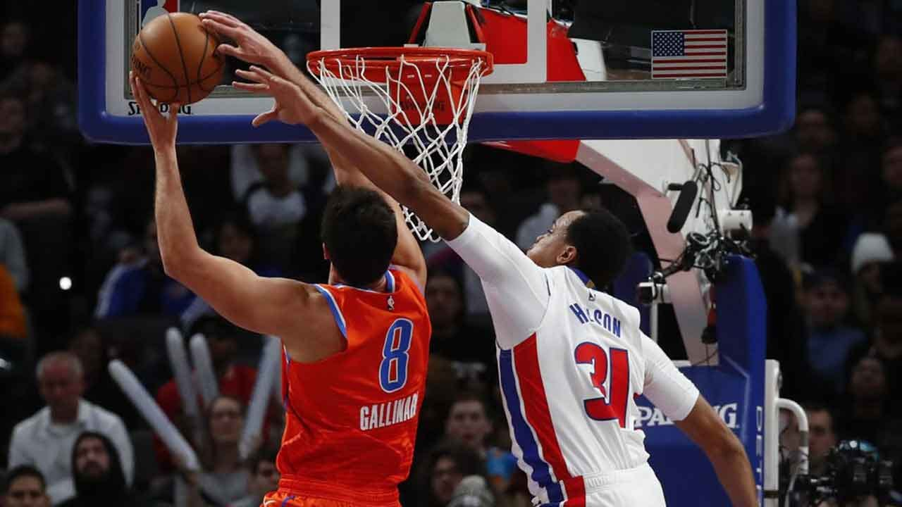 Thunder Blow Lead, But Outlast Pistons 114-107
